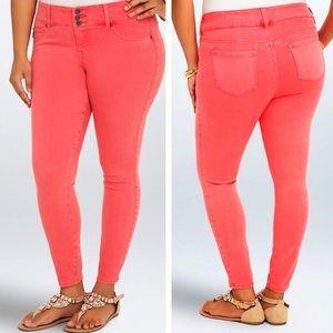 Torrid Coral Skinny Jeans, Size 16